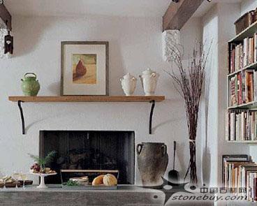 在客厅的电视区的顶棚两端各加一个装饰木条,明确这个空高清图片