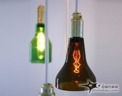 啤酒瓶旧物改造 设计师kix studio创意灯饰