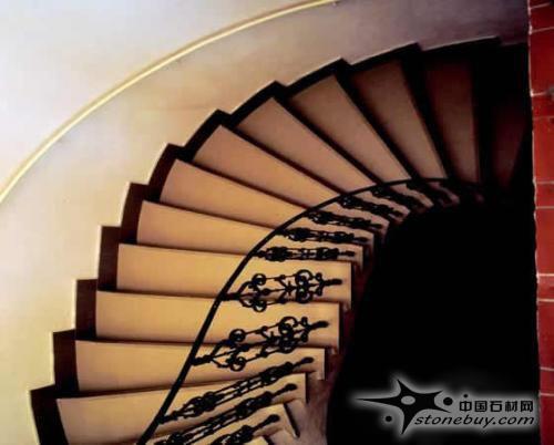 天然石材旋转楼梯欣赏