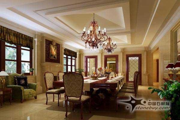 关注:383   本案是以尊贵、时尚的领袖风范为主题展开设计的,整套别墅采用简洁、典雅的新古典欧式风格 来打造恢弘气势和磅礴气度,从而反映出主人对物质世界和精神世界的极高追求。通过大块面、大尺度 的造型,体现空间与建筑的关系。平面规划崇尚功能为先,简洁规整,井然有序。一楼休闲娱乐餐饮于 一体,它属于动态区。二三楼为起居睡眠区。 首层中空客厅区域为整套别墅空间的亮点所在。设计师运用了对称手法处理了主幅墙面造型,天花 、窗套处理也极为整体、干脆。豪华的大理石材罗马双柱造型和大型的水晶灯体现领袖主题的文化 内