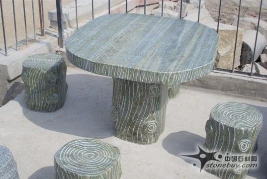 木头质感的石材桌子