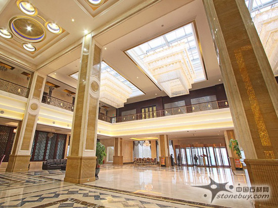 巩义华裕建国酒店石材装饰工程