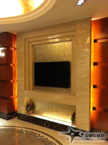 电视背景墙石材图片; 常州巨凝金水岸大理石装饰工程