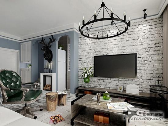 欧式罗马柱大理石电视背景墙效果图