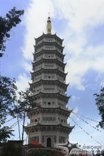 福建省沙县淘金山景区建成国内最高石雕舍利宝塔