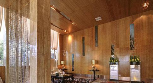 家装赏析石材与木材的完美邂逅