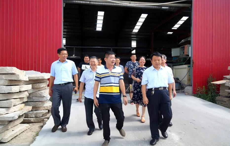 福建省漳州市长泰县考察团到白石镇考察学习石材转型升级工作