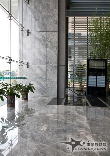 灰色大理石石材酒店工程装饰案例